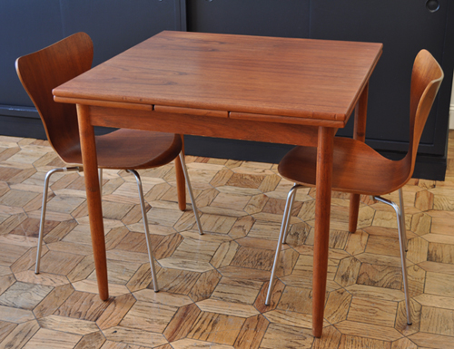 Just In! Danish Teak Expanding Leaf Dining Table